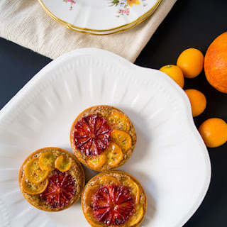 Blood Orange and Kumquat Hazelnut Tarts