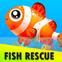 Fish Rescue - Fun puzzle challenging game
