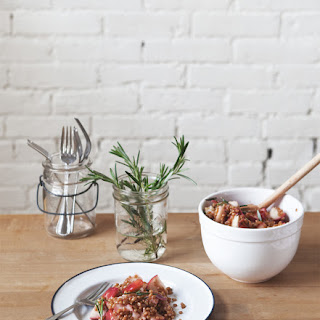 Warm Rosemary Apple + Wheatberry Salad