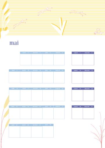 Calendrier 2018 - mai