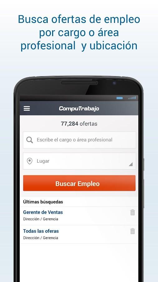 Computrabajo ofertas de empleo aplicaciones de android for Ofertas de trabajo en gava