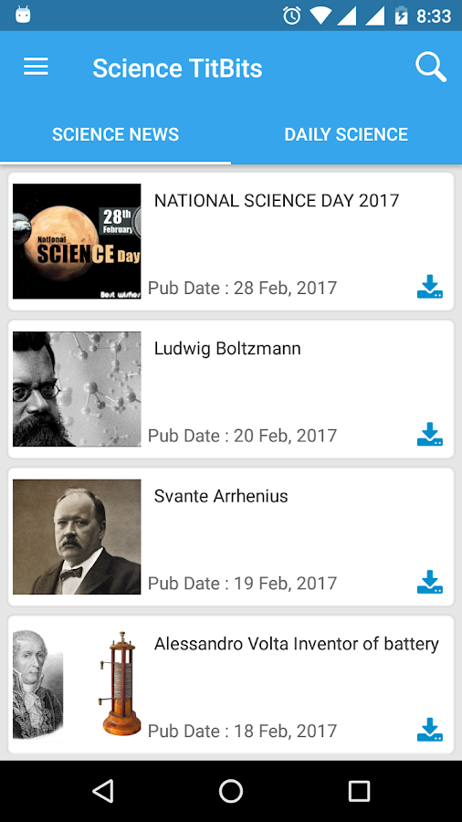 Science TitBits- screenshot