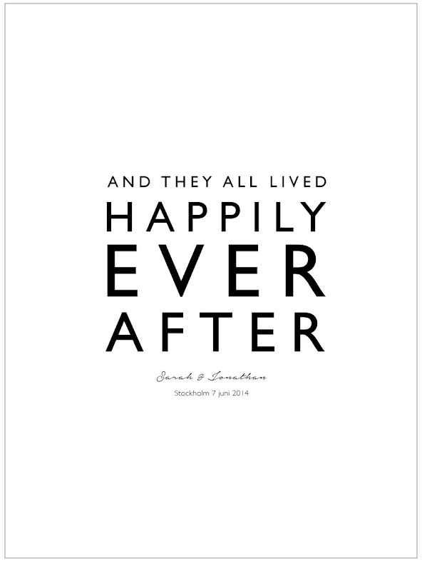 AND THEY LIVED HAPPILY