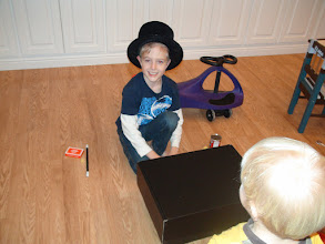 Photo: Ethan performed a magic show for us a couple of days after Christmas.