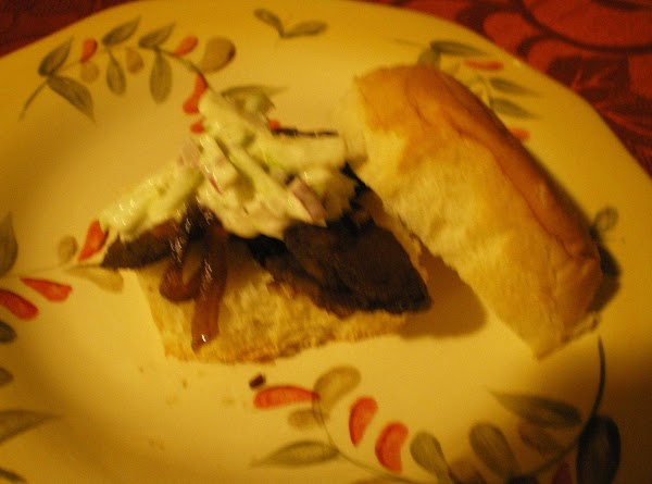 To assemble sliders:Place beef mixture on rolls and top with slaw - Enjoy!I like...