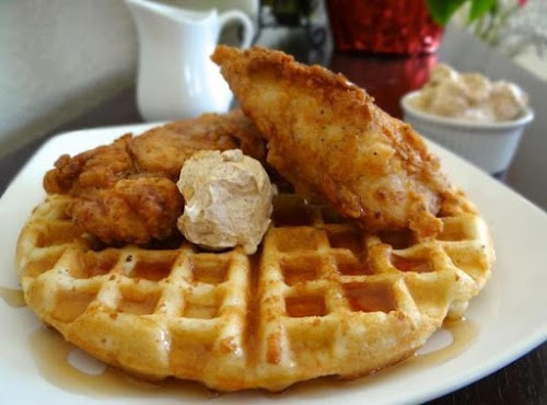 """Chicken and Waffles """"I love dishes that can be eaten any time..."""