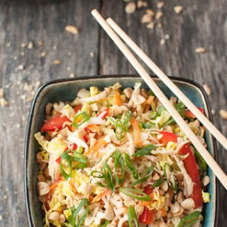 Asian Chicken Salad with Spicy Sriracha Dressing