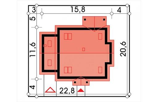 Jagódka wersja B z pojedynczym garażem - Sytuacja