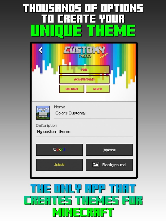 Customy Themes for Minecraft PE- screenshot