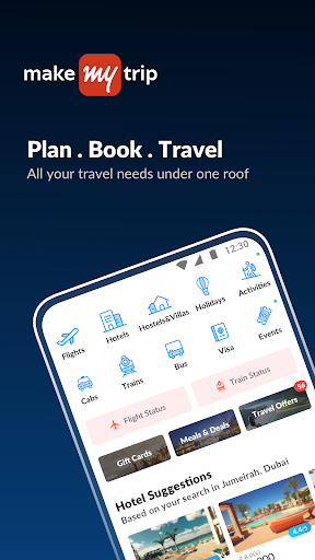 MakeMyTrip-Flight Hotel Bus Cab IRCTC Rail Booking screenshot 1
