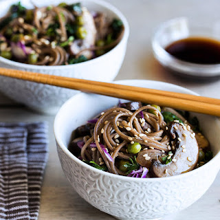 Buckwheat Noodles with Sautéed Vegetables