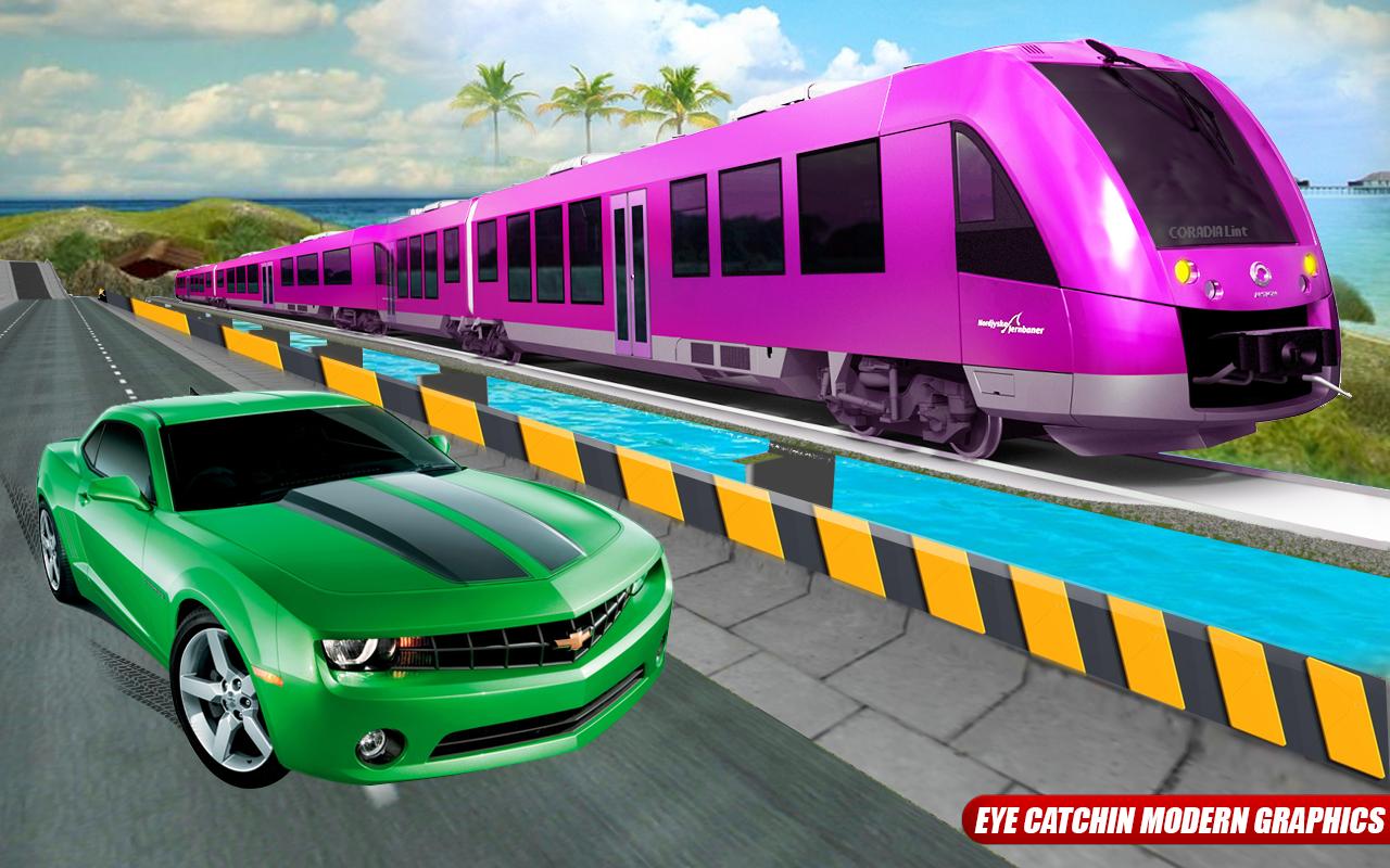 Car Vs Train: High Speed Racing Game