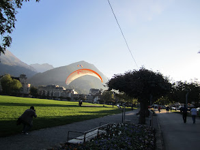 Photo: Tandems landing in the Town Park in Interlaken CH