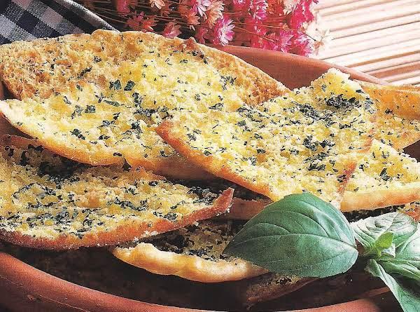 Cheese And Garlic Pita Wedges