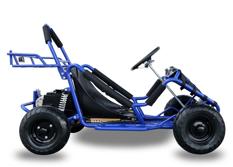 1000w Kids Junior electric go kart cart buggy teenagers foxico sale discount cheap track racing Blue