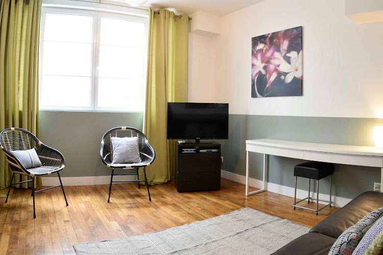 Living area at 2 bedroom Apartment at Clery Street, Montorgueil