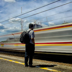 Jakarta Commuter Line by Erry Subhan - Transportation Trains ( indonesia, asia, jakarta, capitol city )