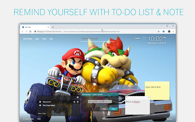 Super Mario Bros Wallpaper HD Custom New Tab