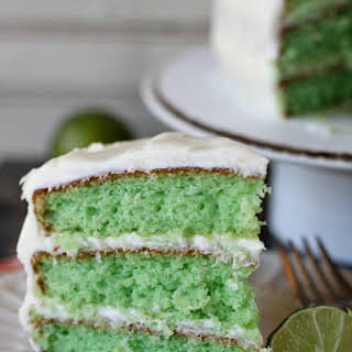 Easy Key Lime Cake With Key Lime Cream Cheese Frosting.