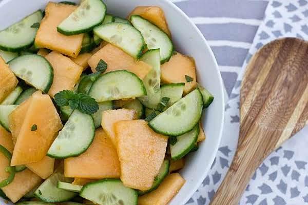 Cantaloupe Cucumber Salad Recipe