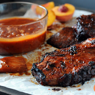 Peach Bacon Bourbon BBQ Sauce