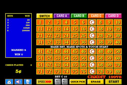 Four 4 Card Keno - FREE 1.3.5 screenshots 2