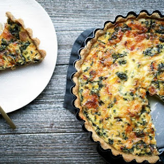 Bacon, Leek, and Gruyere Quiche.
