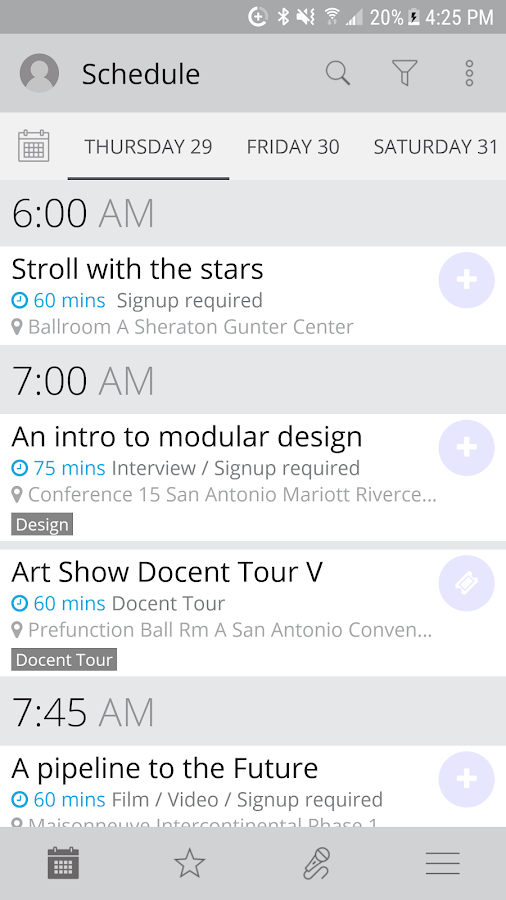 Event Guide- screenshot