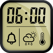 Alarm clock and weather forecast , stopwatch