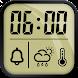 目覚まし時計と天気予報、ストップウォッチ