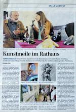 Photo: Artikel zur 2. Lokalen Kunstmesse in Naumburg (NTB/NEB Montag, 29. August 2011)