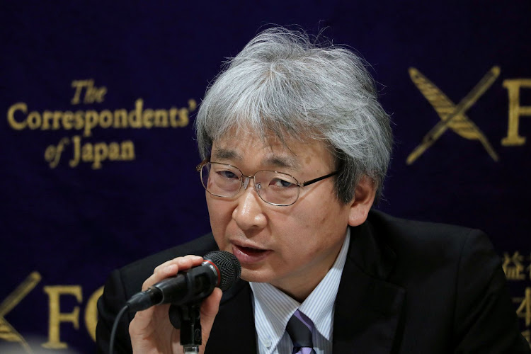 Motonari Otsuru, chief lawyer of the ousted Nissan chair Carlos Ghosn, addresses a news conference in Tokyo, Japan, on January 8 2019. Picture: REUTERS/KIM KYUNG-HOON