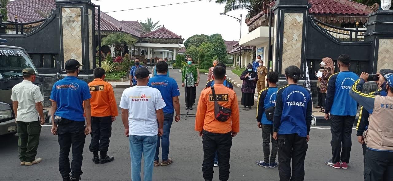 Empat Truck Bantuan Pengangkut Bantuan Dari Magetan Dikirim ke Sulawesi Barat dan Kalimantan