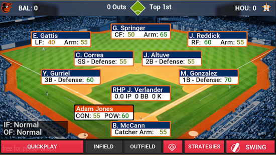 MLB Manager 2018 Screenshot