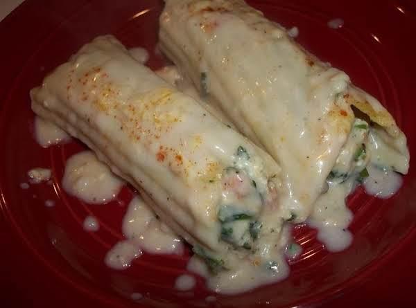 Creamy Chicken / Spinach & Ham Manicotti Recipe