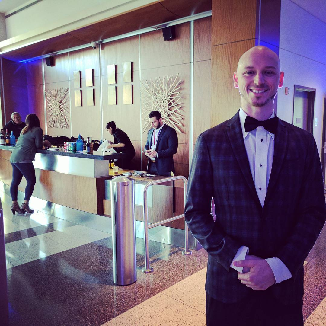 Grue & Bleen, CCO, Pete DiLorenzo Looking Dapper at String Theory School