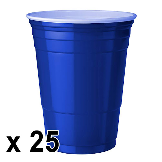 25 kpl. Blue Cups Mukeja (473 ml./16 Oz.)