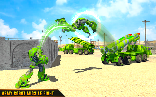 US Army Robot Missile Attack: Truck Robot Games modavailable screenshots 12