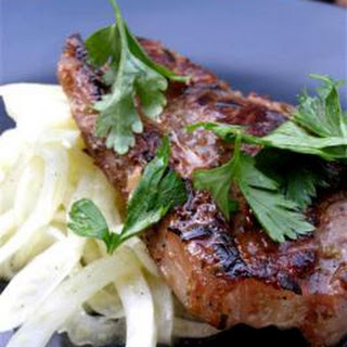 Lamb Chops And Fennel Salad