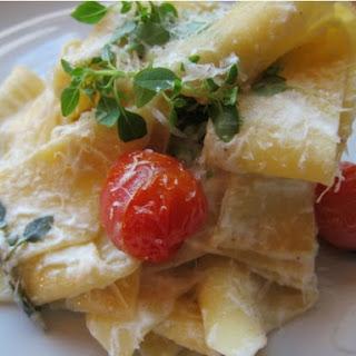 Handcut Pasta with Ricotta and Peas Recipe