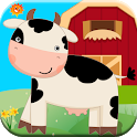 Barnyard Farm Animal Games for Toddlers Ages 1 2 3 icon