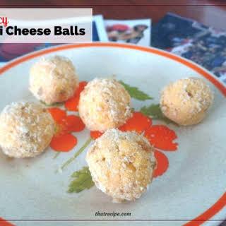 Spicy Bite Sized Cheese Balls.