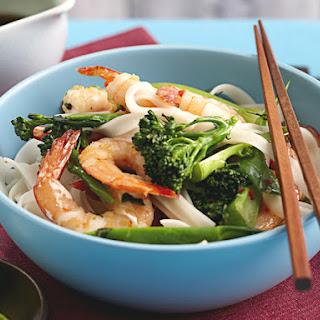 Ginger Shrimp and Noodle Stir Fry