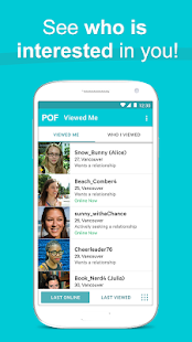 POF Free Dating App Screenshot