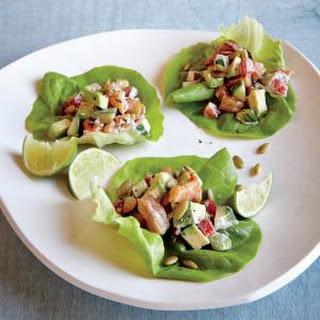 Chipotle Shrimp Lettuce Wraps.