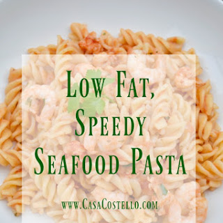 Speedy Low Fat Spicy Seafood Pasta.