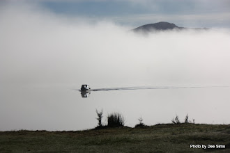 Photo: (Year 2) Day 287 - A Boat on Lake Paringa in the Early Morning Mist