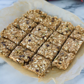 Pumpkin Seed and Chocolate Chip Oatmeal Breakfast Bars from Plant-Powered Families.