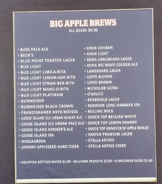 Big Apple Brews Beer List By Ceetar