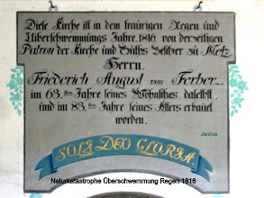 Photo: Naturkatastrophe Überschwemmung Regen 1816 Familie von Ferber
